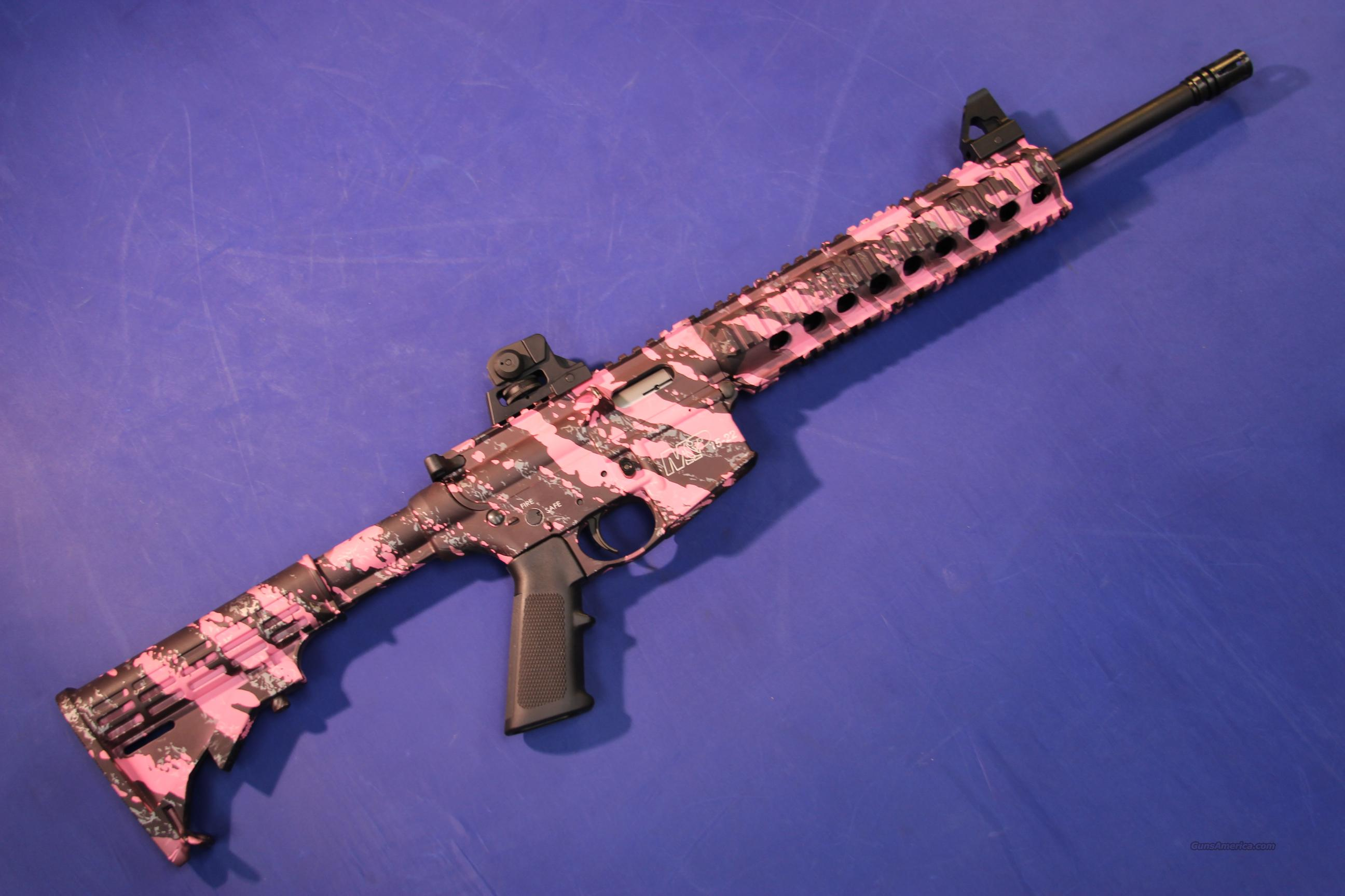 SMITH & WESSON M&P-15 22 PINK PLATINUM .22 LR  Guns > Rifles > Smith & Wesson Rifles > M&P