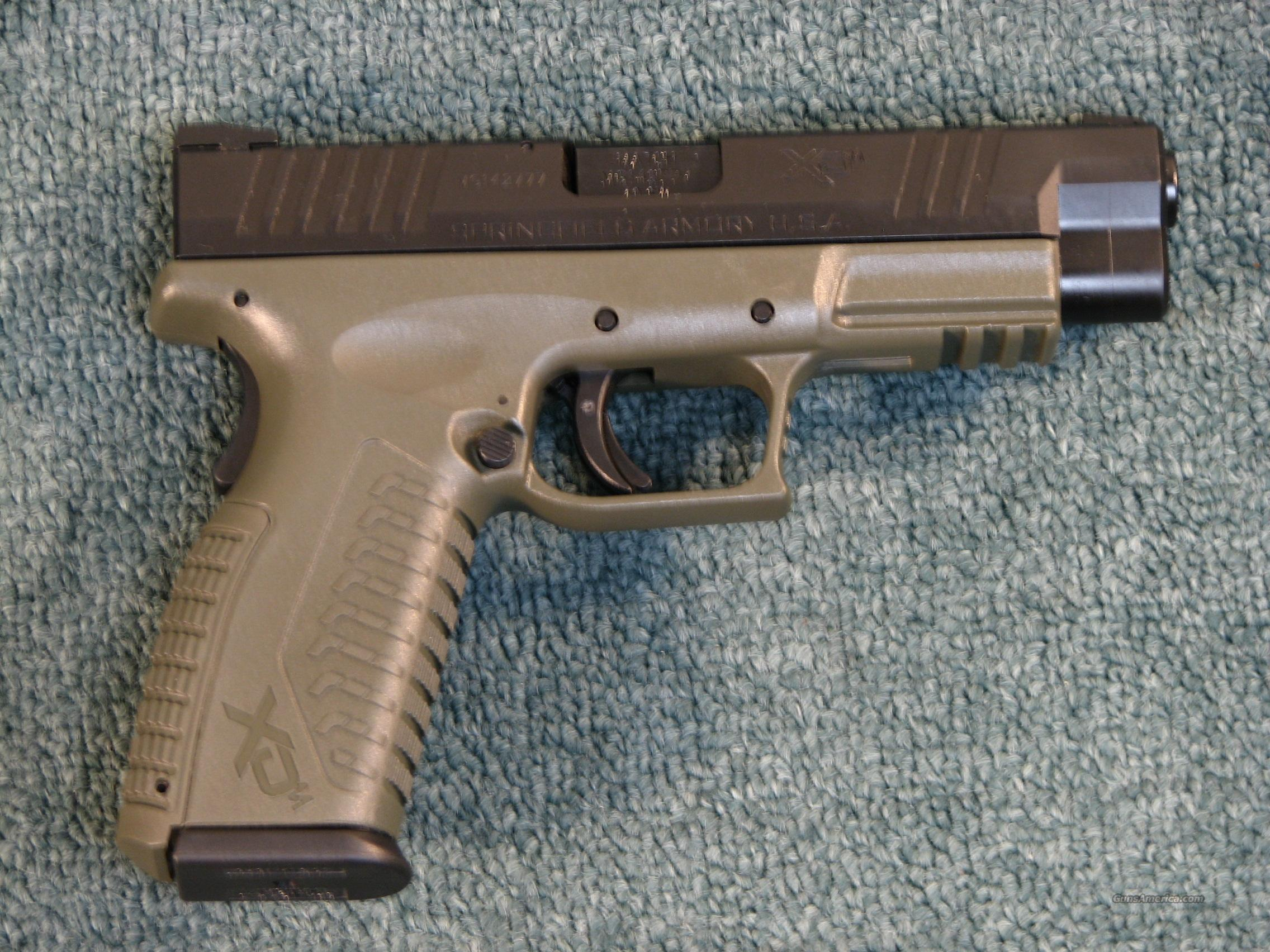 SPRINGFIELD XDM .40 TWO-TONE OD-green  Guns > Pistols > Springfield Armory Pistols > XD (eXtreme Duty)