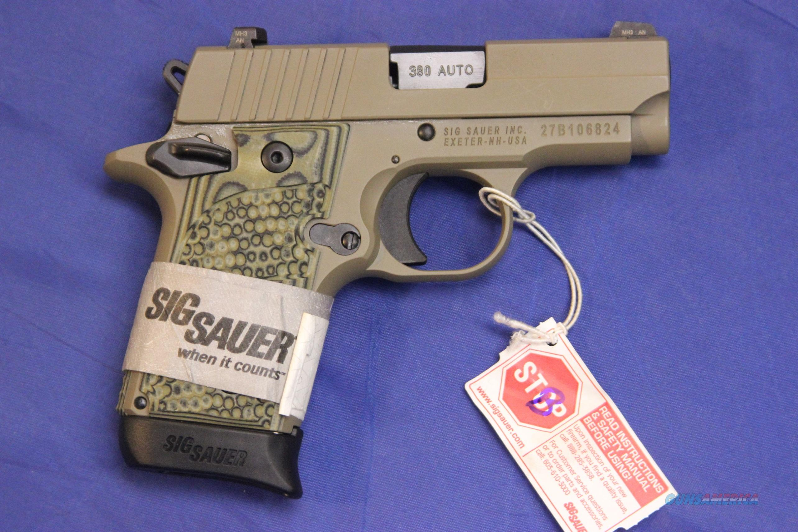 SIG SAUER P238 SCORPION G-10 GRIPS - NEW!  Guns > Pistols > Sig - Sauer/Sigarms Pistols > P238