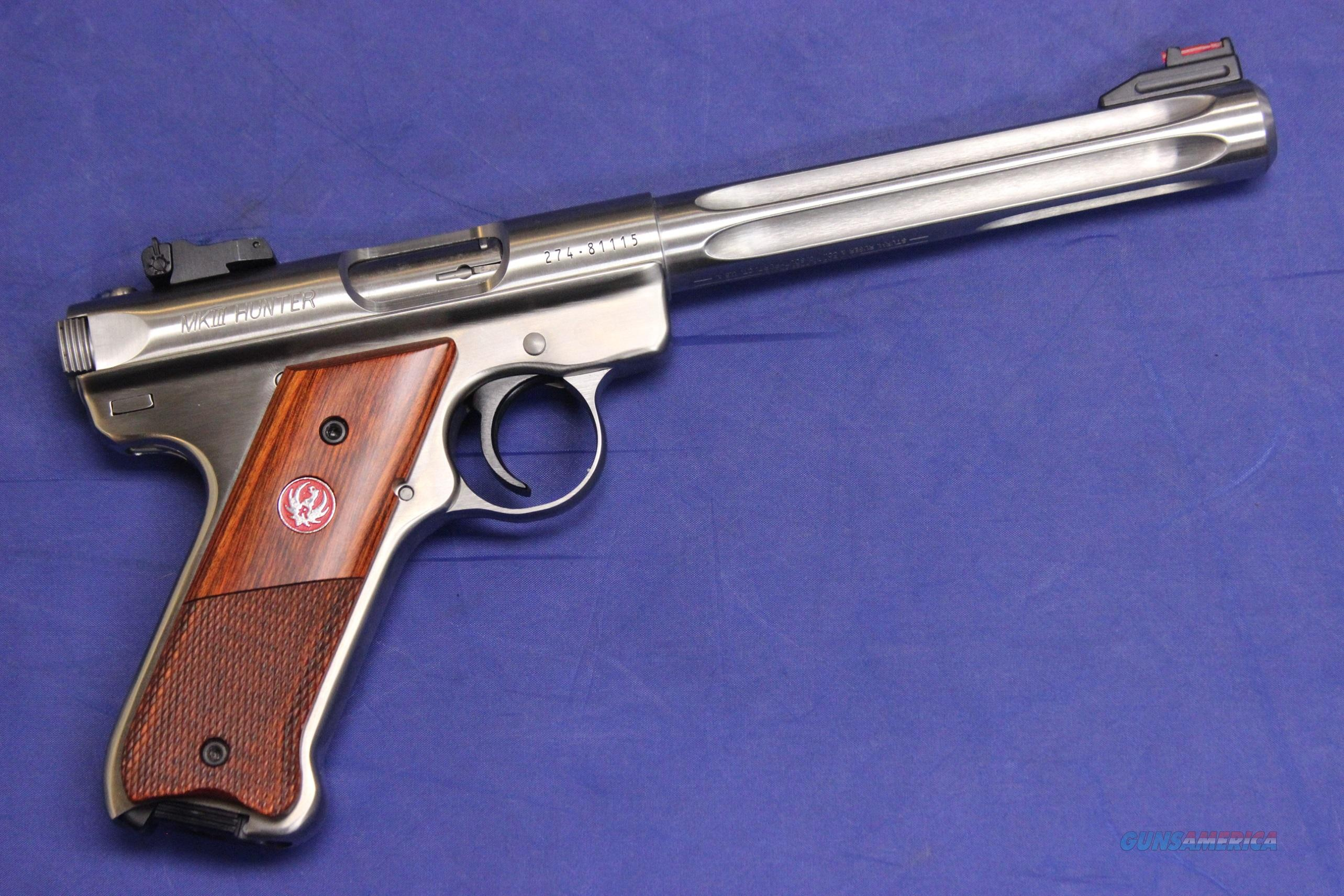 RUGER MK III HUNTER SS FLUTED .22 LR - NEW!  Guns > Pistols > Ruger Semi-Auto Pistols > Mark I & II Family