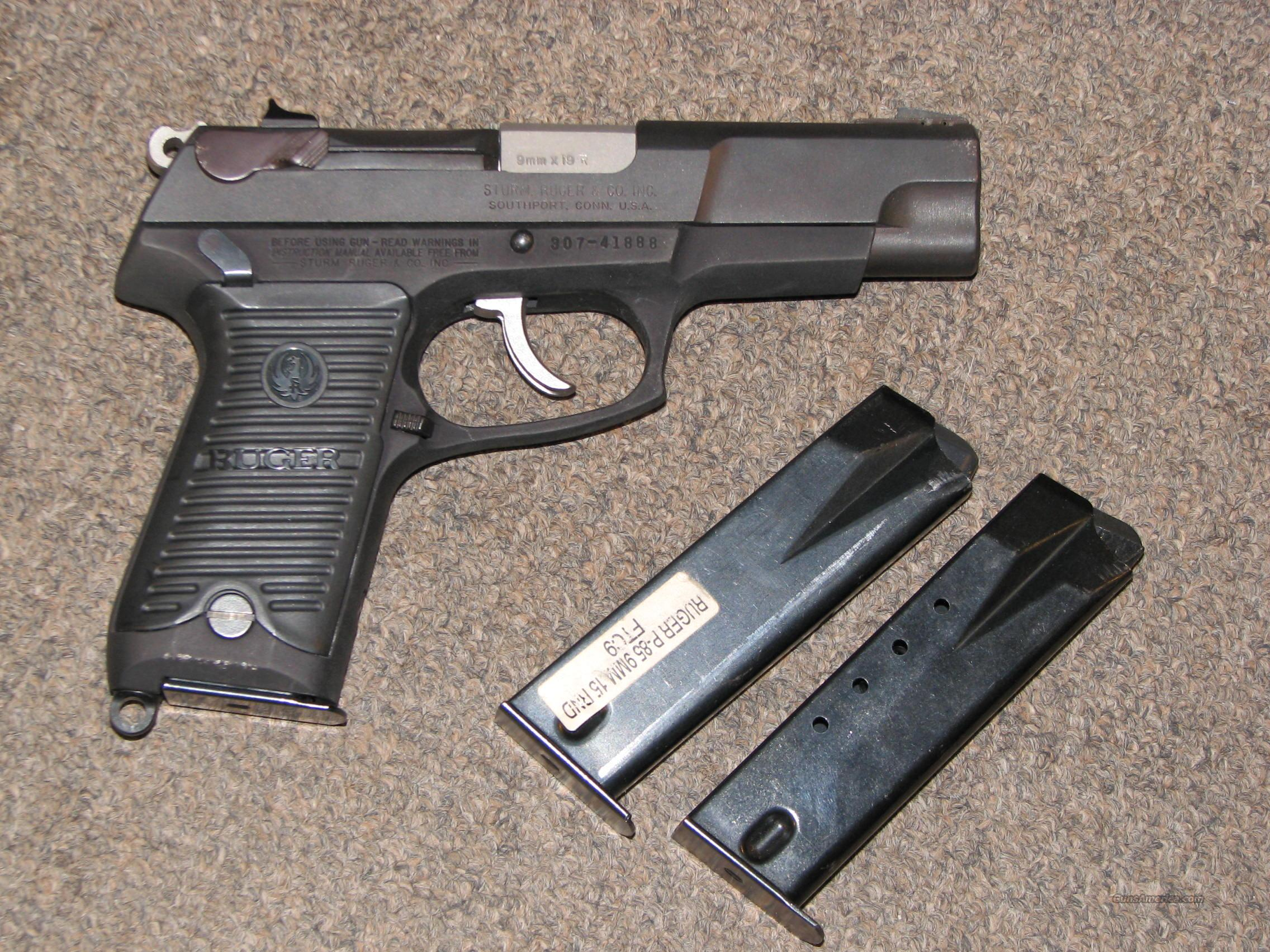 RUGER P-89 9mm w/ 3 MAGS  Guns > Pistols > Ruger Semi-Auto Pistols > P-Series