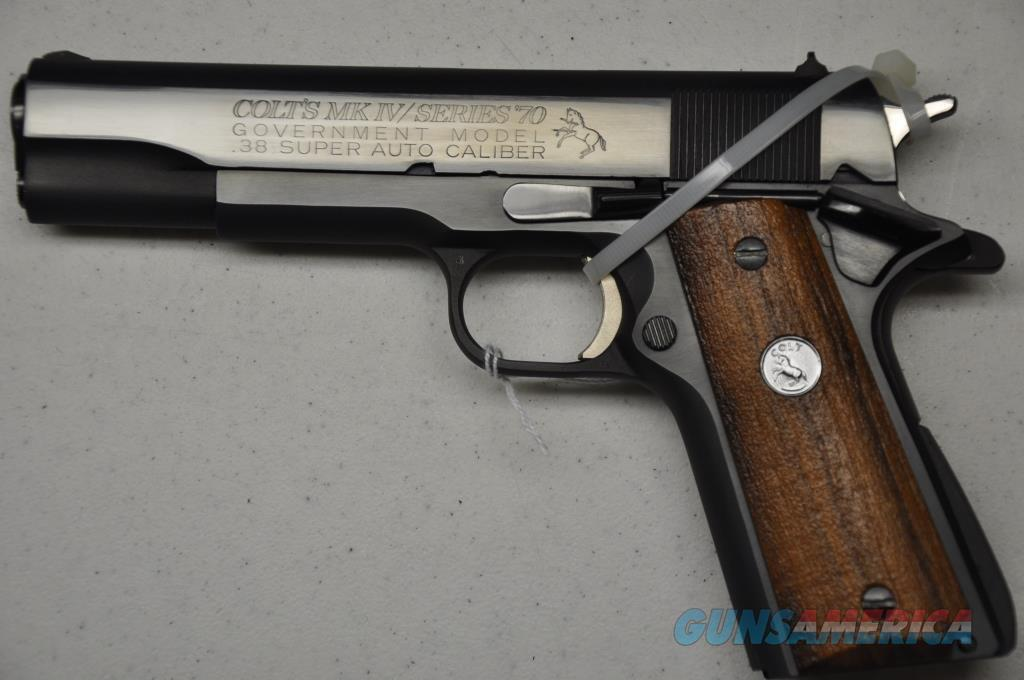 Colt Series 70 Govt. 38 Super Early large Letter NIB  Guns > Pistols > Colt Automatic Pistols (1911 & Var)