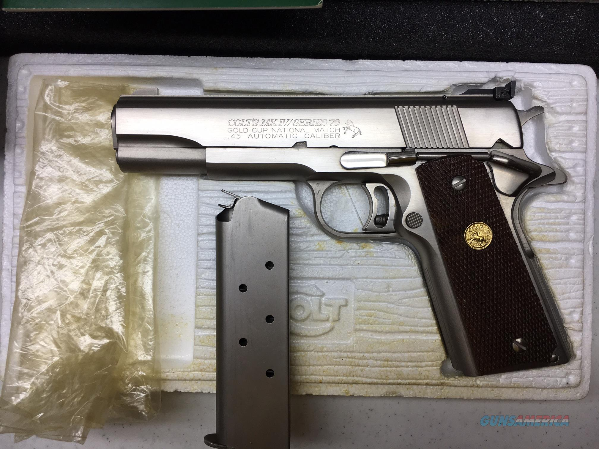 Colt Series 70 Gold Cup Factory Electroless Nickel 45 ACP NIB  Guns > Pistols > Colt Automatic Pistols (1911 & Var)
