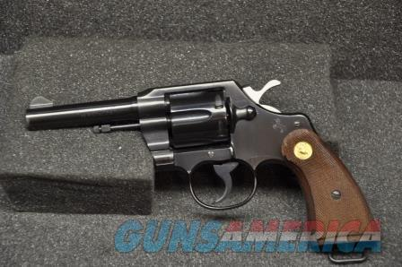 Colt 1957 Official Police with Laynard  Guns > Pistols > Colt Double Action Revolvers- Modern