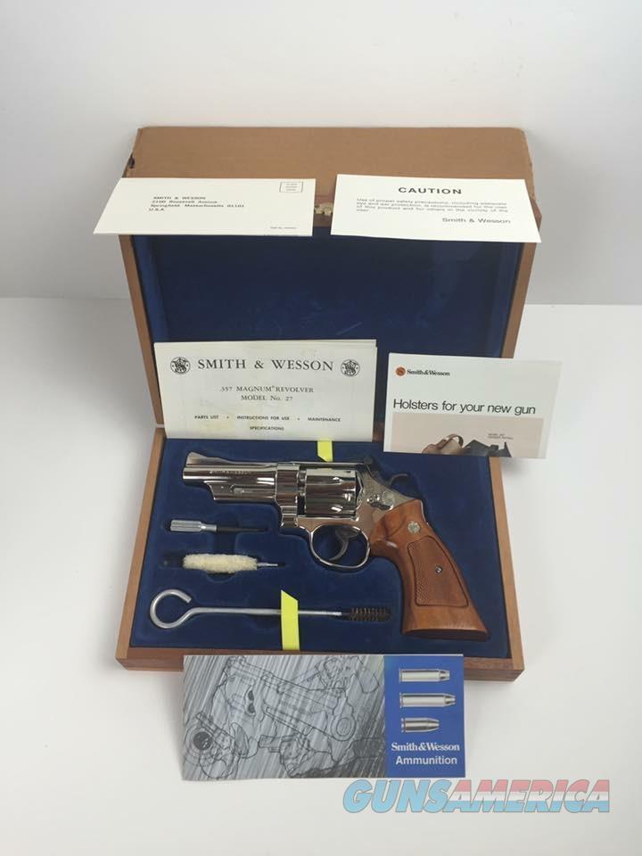 Smith & Wesson Model 27-2 4 inch Nickel 357 Magnum NIB  Guns > Pistols > Smith & Wesson Revolvers > Full Frame Revolver