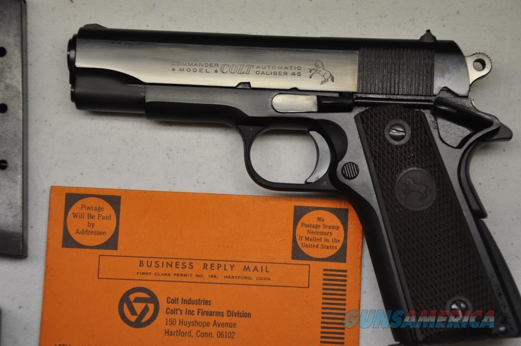 Colt Early Series 70 Transition Lite weight Commander 45ACP Blue finish 1969  Guns > Pistols > Colt Automatic Pistols (1911 & Var)