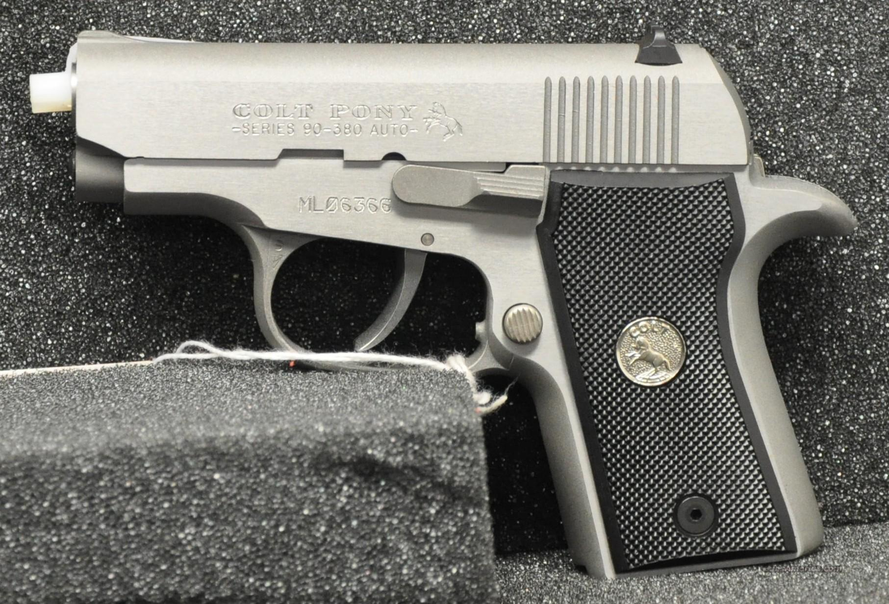 Colt Pony 380 ACP Stainless Steel  Guns > Pistols > Colt Automatic Pistols (.25, .32, & .380 cal)