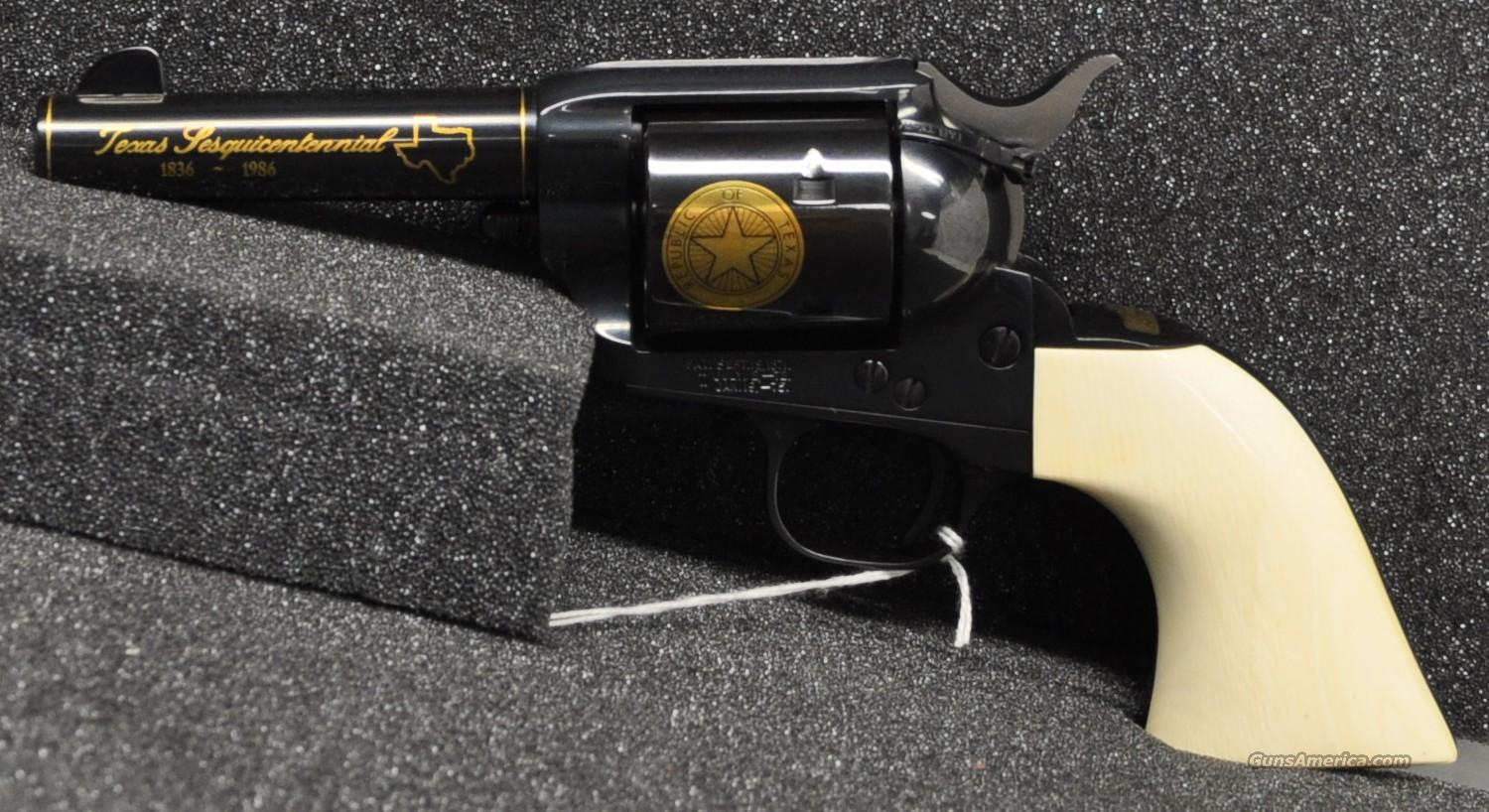 Colt Texas Sesquentinial 45 Colt Factory Ivory  Guns > Pistols > Colt Single Action Revolvers - 3rd Gen.