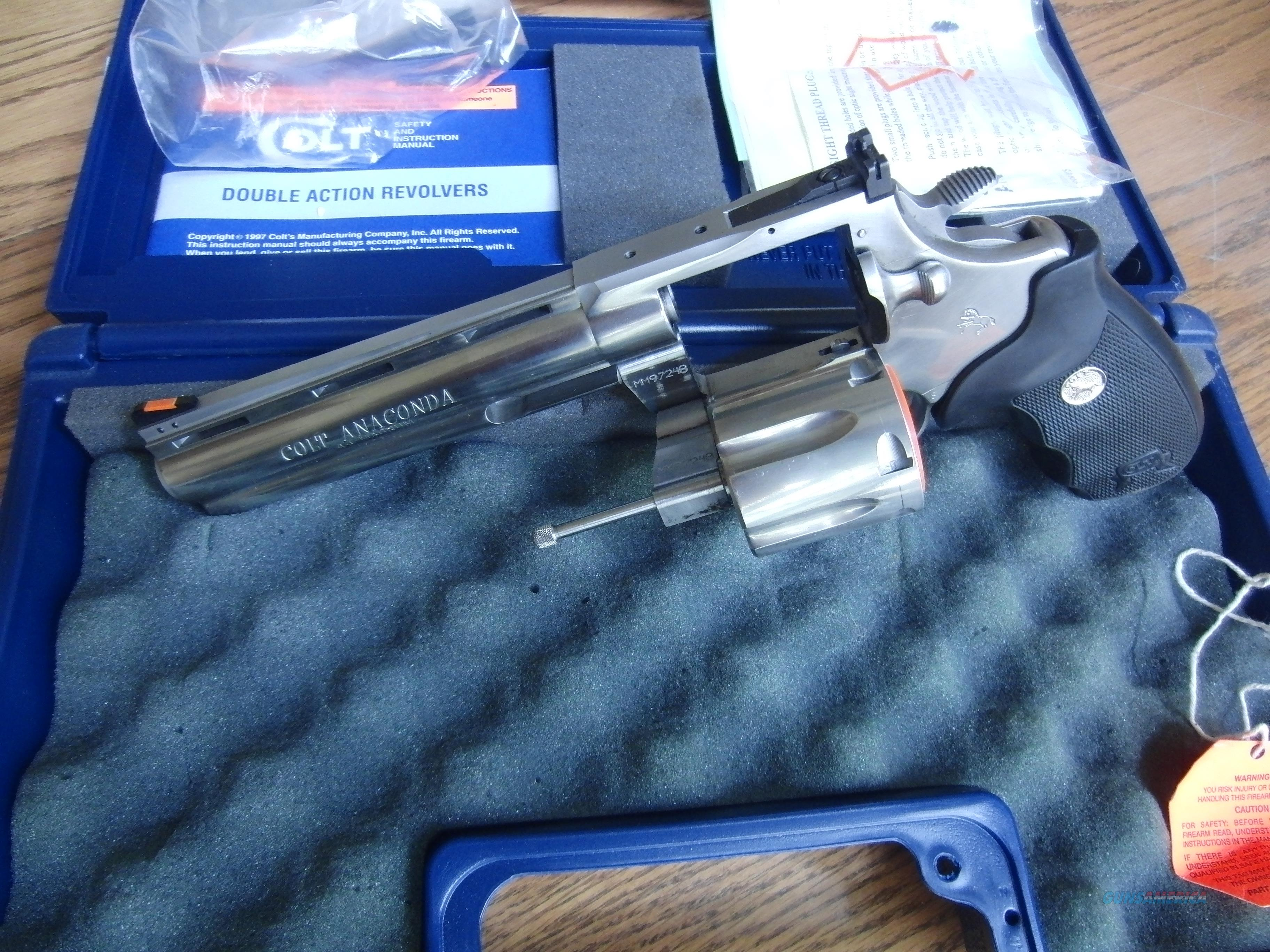 Colt Anaconda 6 inch barrel  Guns > Pistols > Colt Double Action Revolvers- Modern