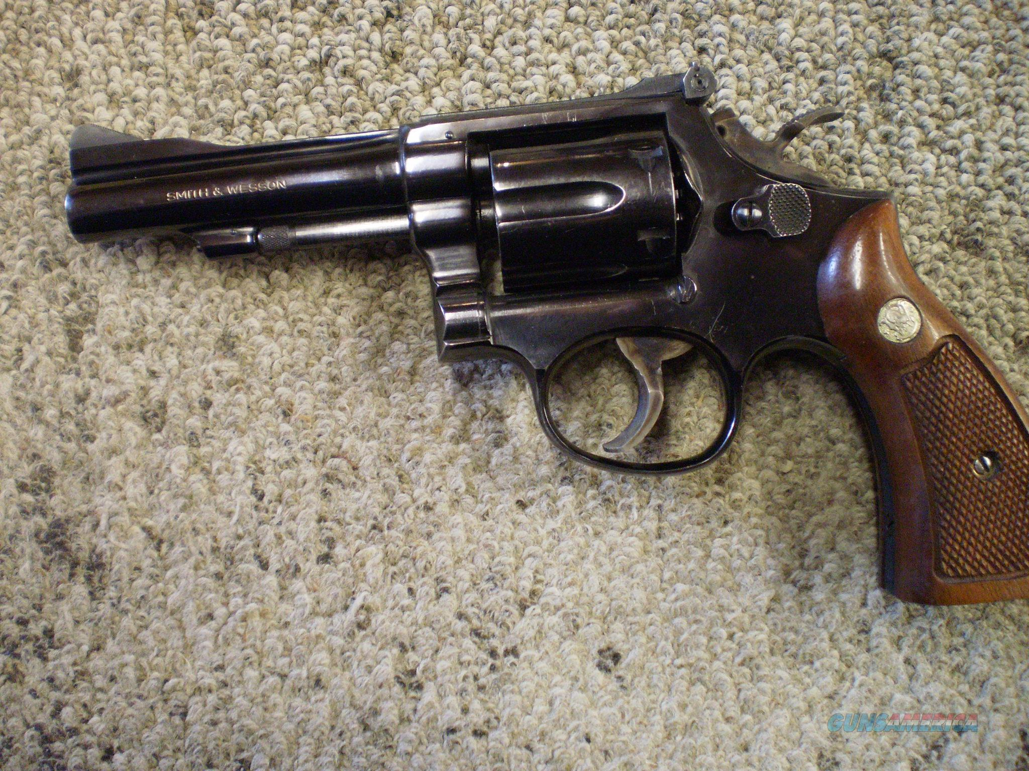 "SMITH & WESSON MODEL 15-3 38 SPL 4""  Guns > Pistols > Smith & Wesson Revolvers > Full Frame Revolver"