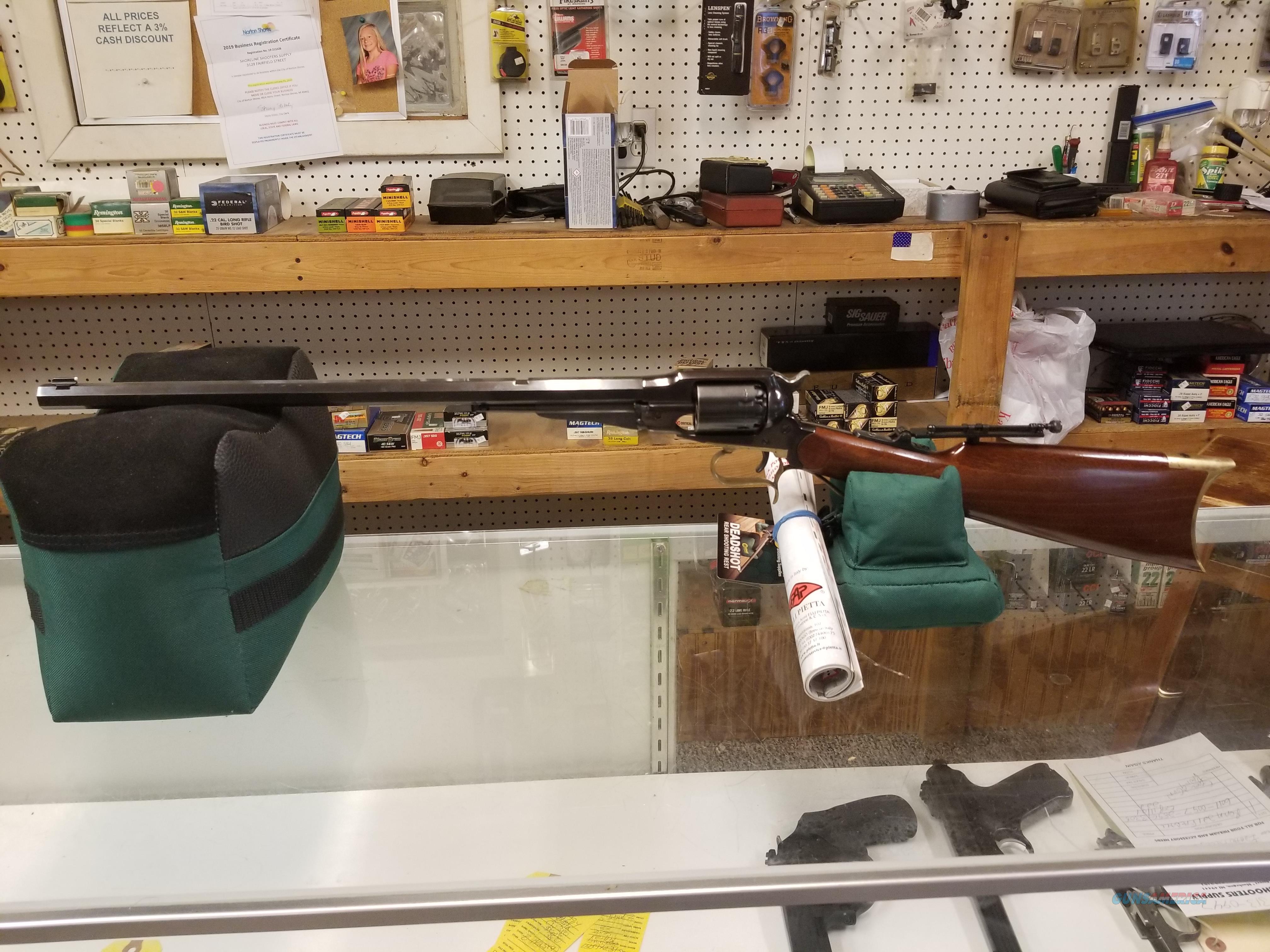 UBERTI CATTLEMAN CARBINE CAP AND BALL  Guns > Rifles > Uberti Rifles > Revolving
