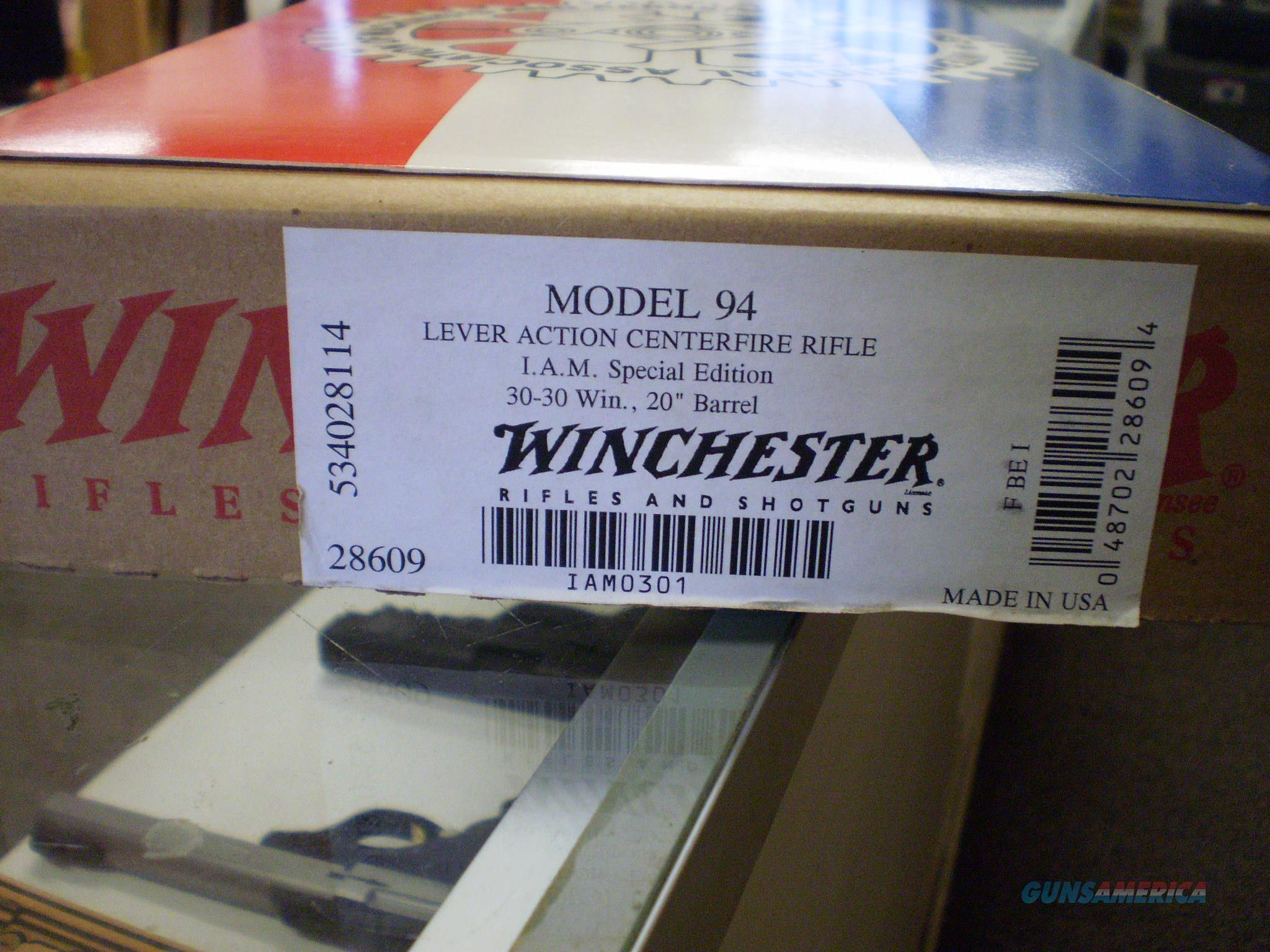 WINCHESTER MODEL 94 I.A.M. SPECIAL EDITION 30-30  Guns > Rifles > Winchester Rifle Commemoratives