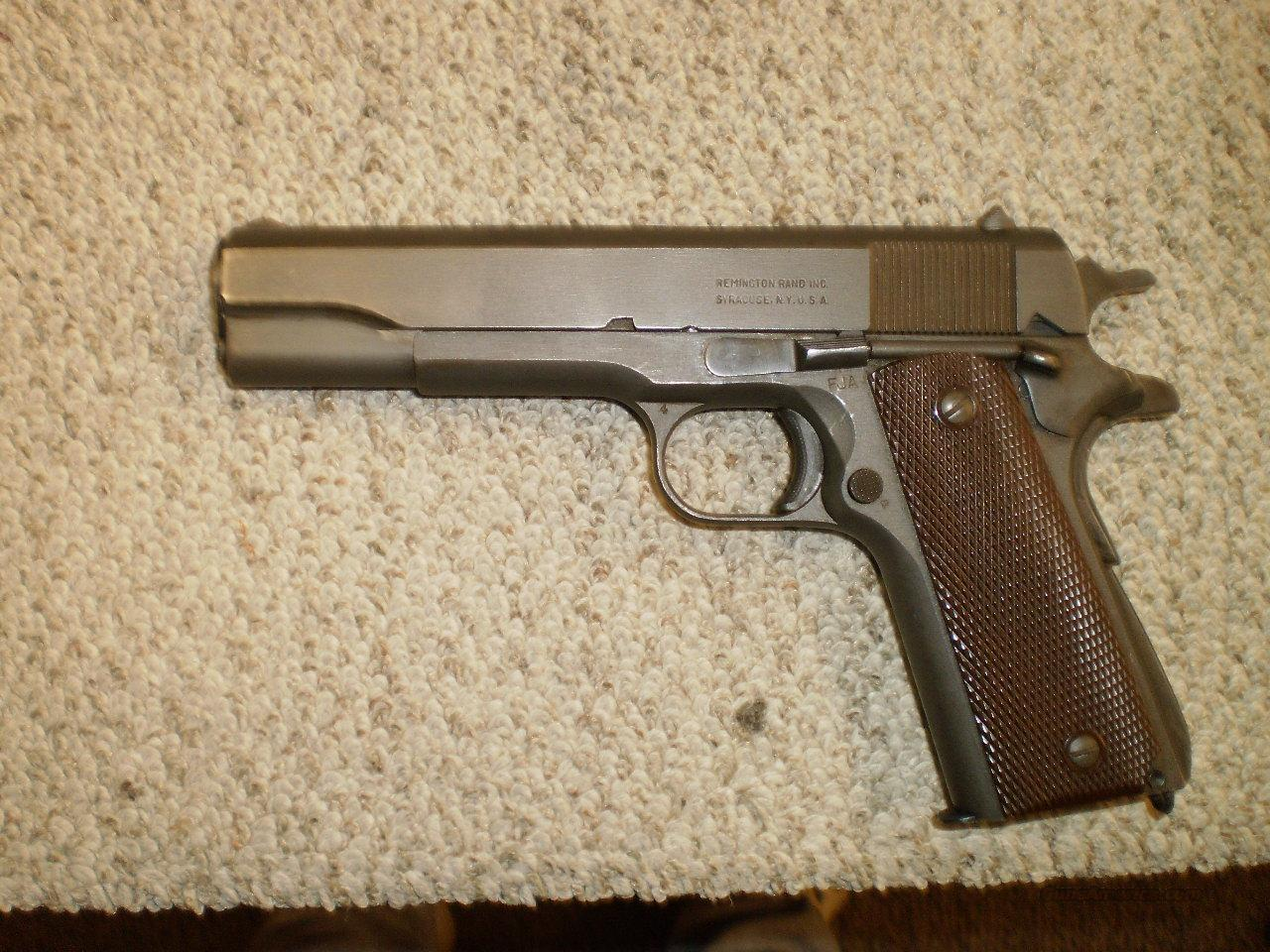 REMINGTON RAND 1911A1  Guns > Pistols > Remington Pistols - Modern