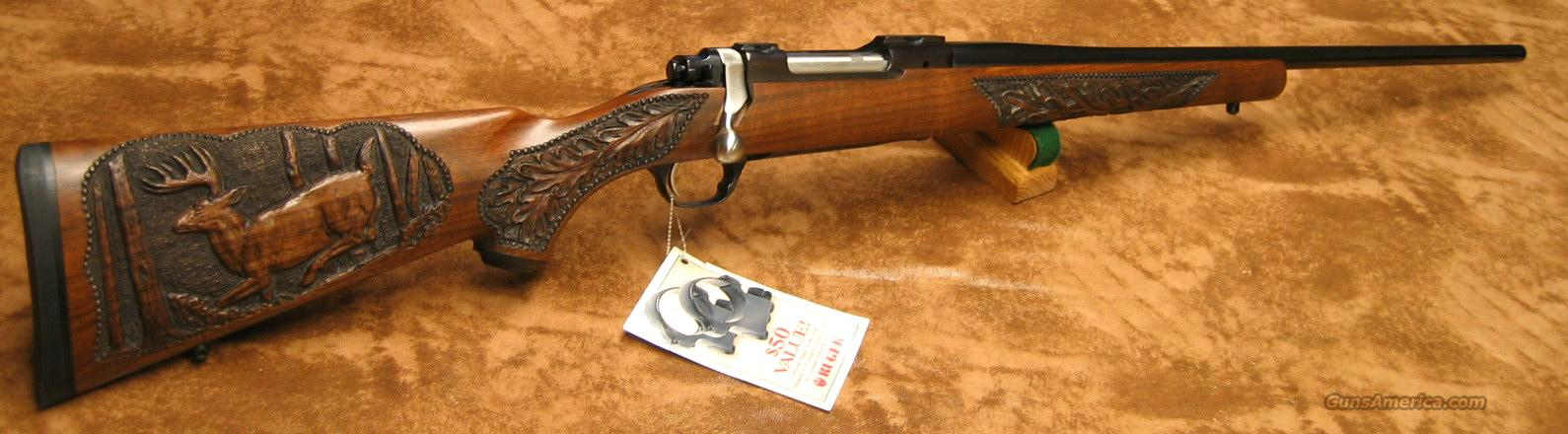CUSTOM CARVED NEW RUGER M77R MKII 7MM REM SA ULTRA MAG   New In Box  Guns > Rifles > Ruger Rifles > Model 77