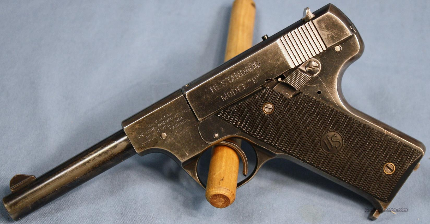 High Standard Model B Semi-Automatic Pistol Pre-WWII .22LR  Guns > Pistols > High Standard Pistols