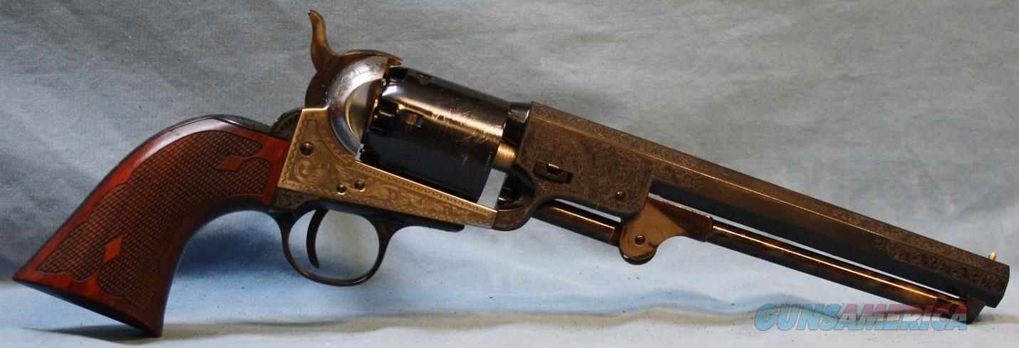 Cimarron 1851 Engraved Navy Single Action Percussion Revolver, 36 caliber Free Shipping!  Guns > Pistols > Cimarron Pistols