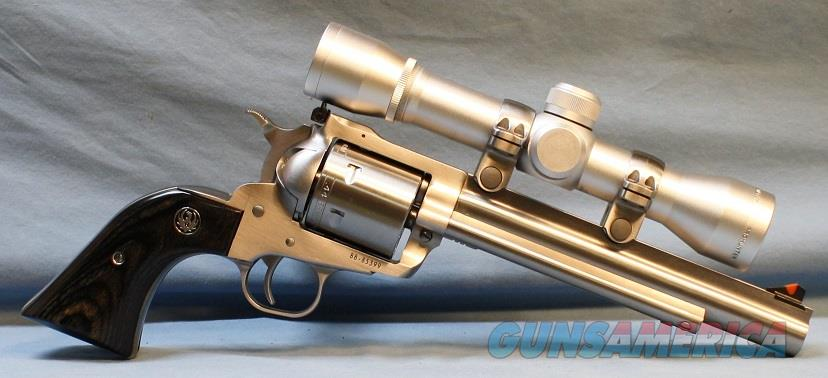 Ruger Super Blackhawk Hunter Stainless Steel Single Action Revolver, 44 Magnum Free Shipping!!  Guns > Pistols > Ruger Single Action Revolvers > Blackhawk Type
