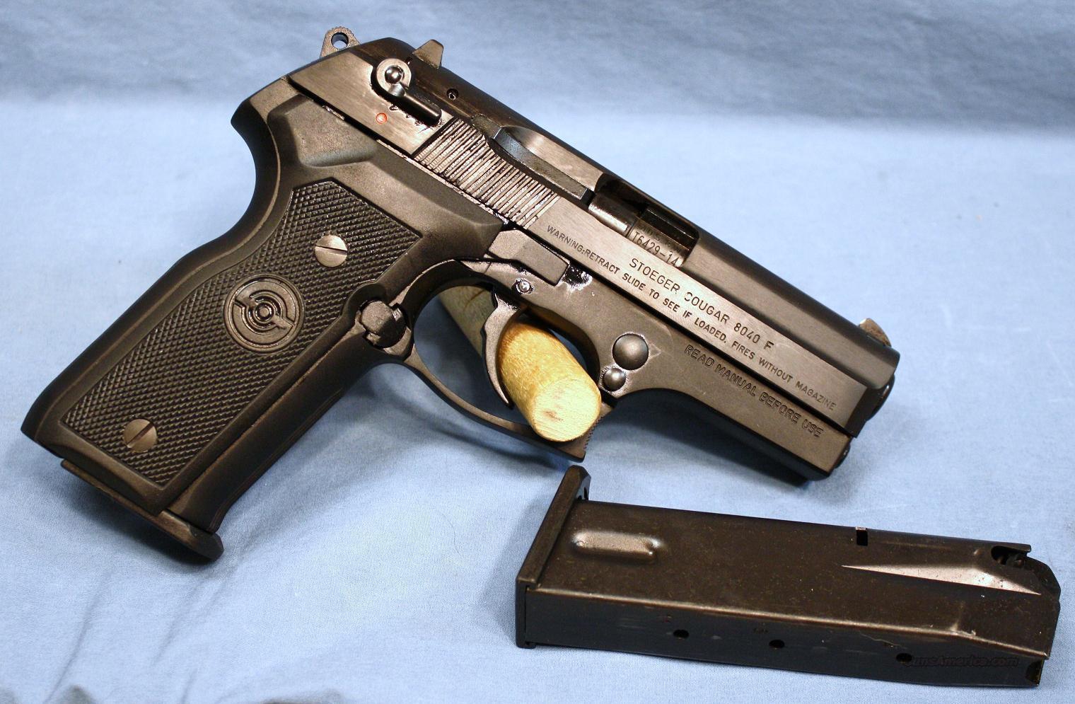 Stoeger cougar semi automatic pistol 40 s amp w guns gt pistols gt s misc