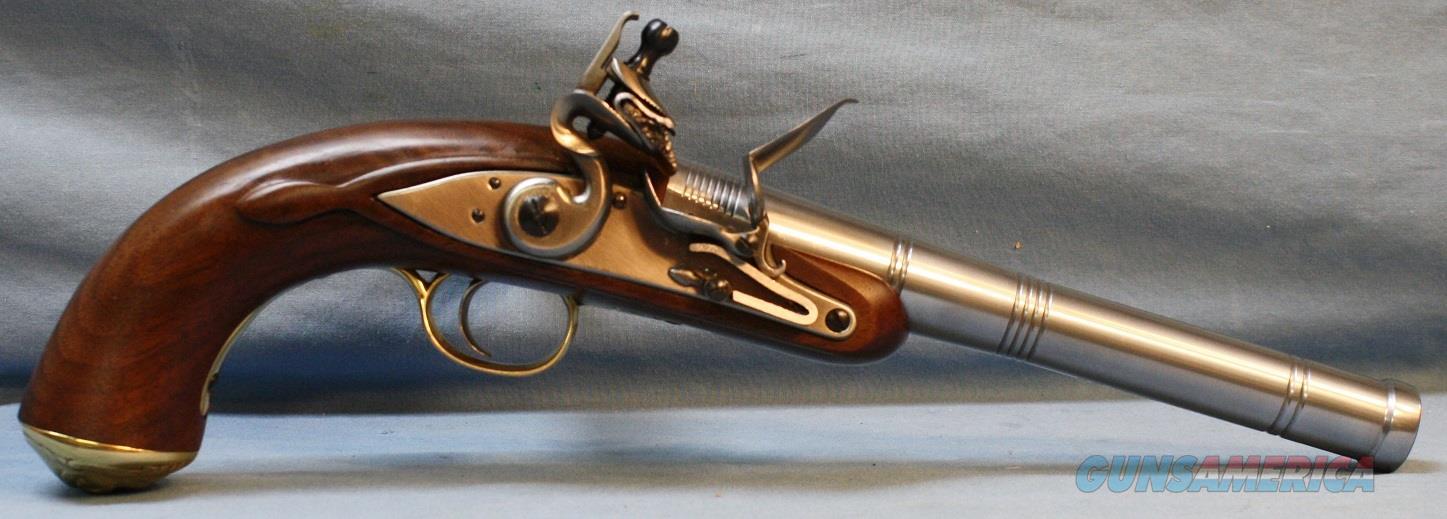 Pedersoli Taylors & Co. Queen Anne Single Shot Flintlock Pistol, 50 caliber Free Shipping!  Guns > Pistols > Taylors & Co. Pistols > Flintlock