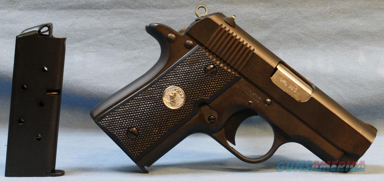 Colt Mk. IV / Series 80 Mustang Pocket  1911A1 style Semi-Automatic Pistol, made in 1995, 380 ACP Free Shipping!  Guns > Pistols > Colt Automatic Pistols (.25, .32, & .380 cal)