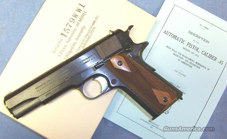 Colt 1911 World War One 45ACP Semi-Automatic Pistol  Guns > Pistols > Colt Automatic Pistols (1911 & Var)