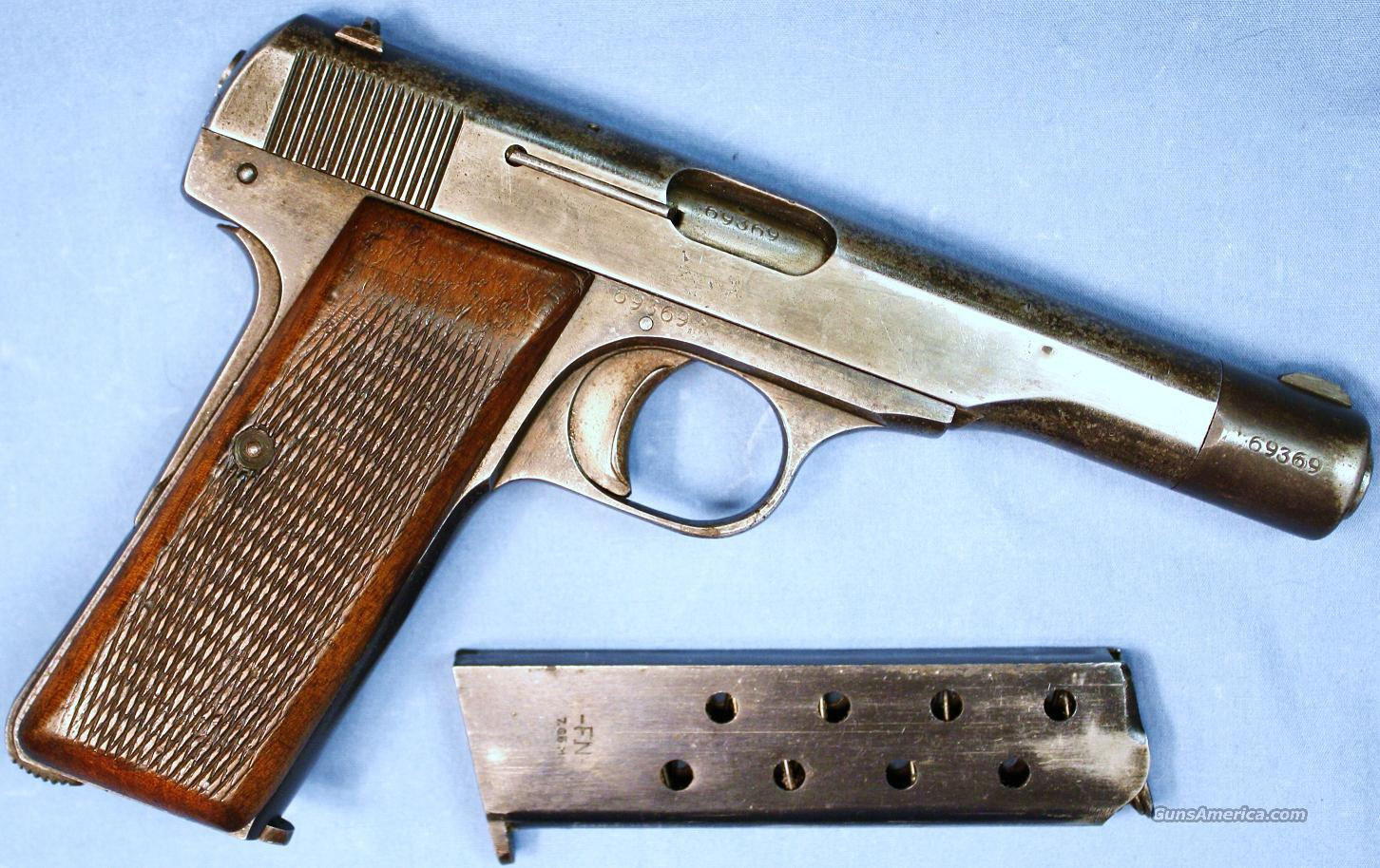 German Army Browning FN Model 1922 Semi-Automatic Pistol .32ACP  Guns > Pistols > Browning Pistols > Other Autos