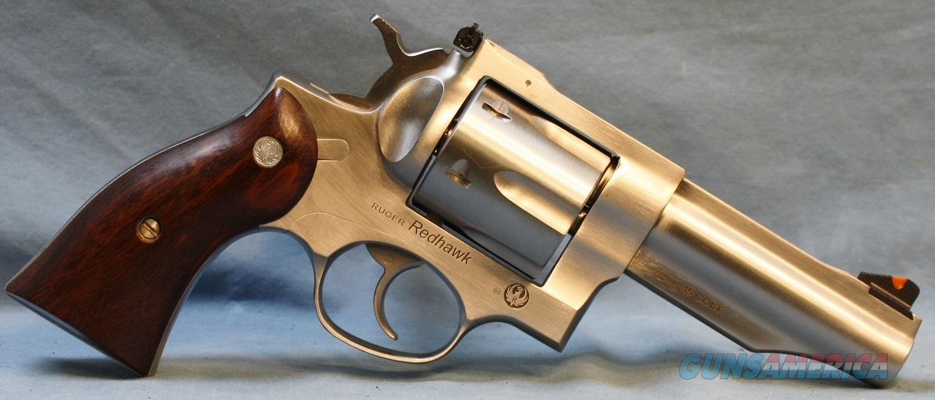 Ruger Redhawk Stainless Steel Double Action Revolver 45 Colt Free Shipping!!  Guns > Pistols > Ruger Double Action Revolver > Redhawk Type