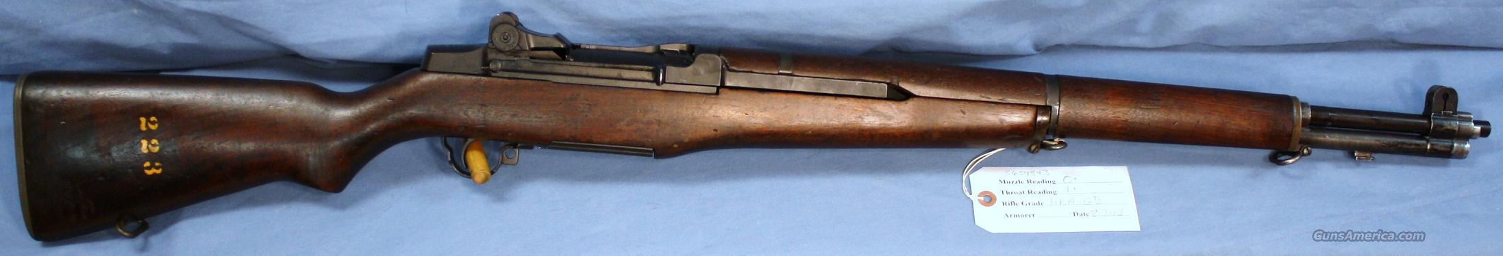 U.S. Army M1 Garand HRA Semi-Automatic Rifle .30-06 with LMR Barrel Dated 3-55  Guns > Rifles > Military Misc. Rifles US > M1 Garand