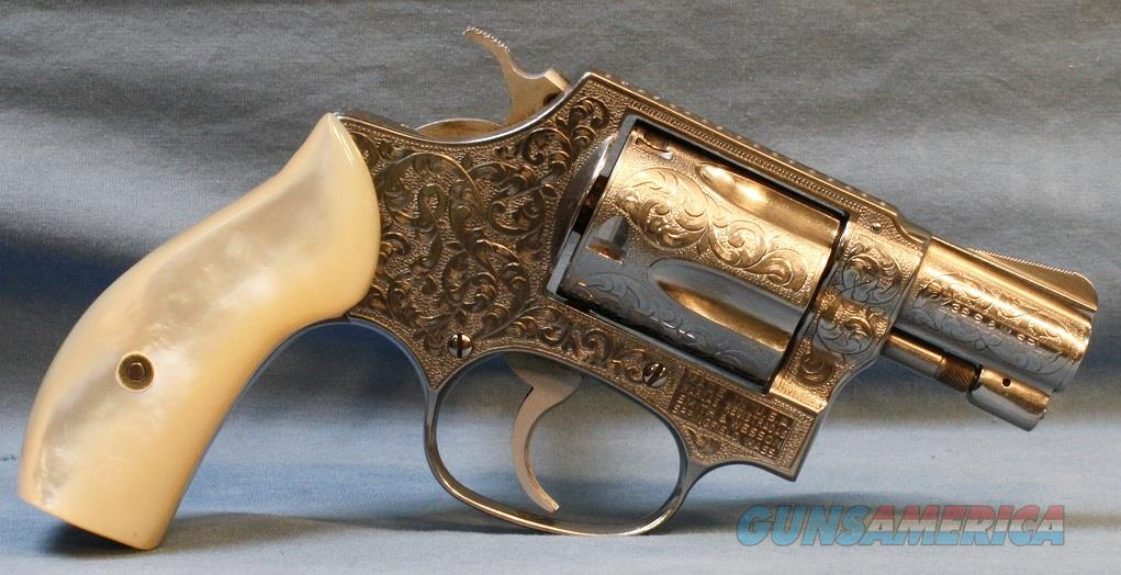 Smith and Wesson Engraved Model 60 Double Action Revolver, made in 1982, 38spl. Free Shipping!  Guns > Pistols > Smith & Wesson Revolvers > Small Frame ( J )