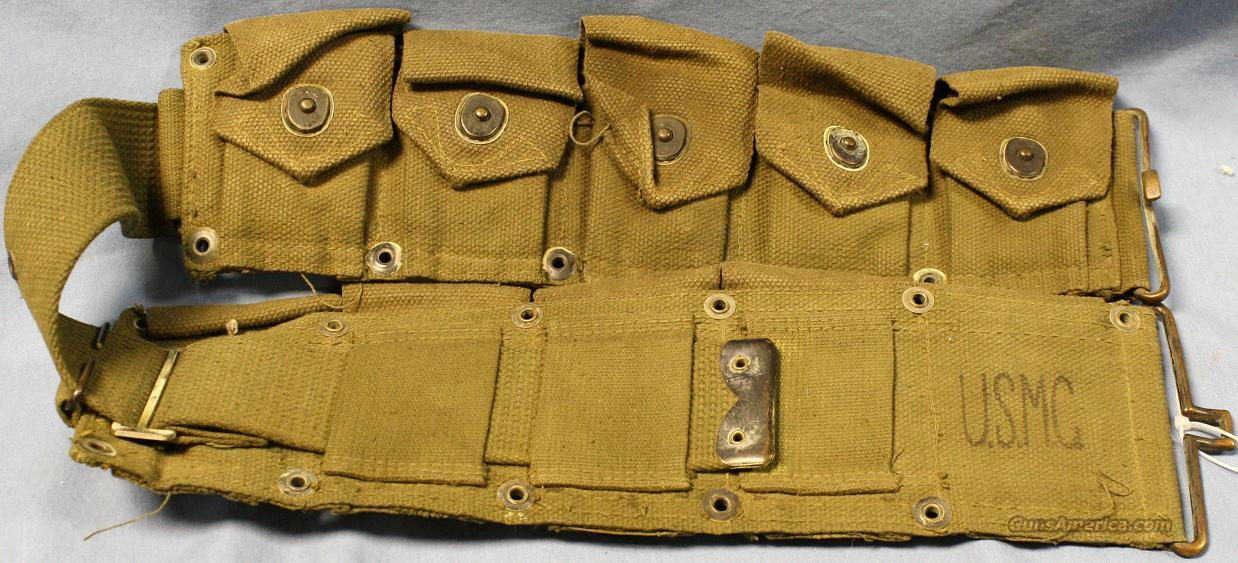 USMC M1 Garand Cartridge Belt  Non-Guns > Military > Clothing/Camo