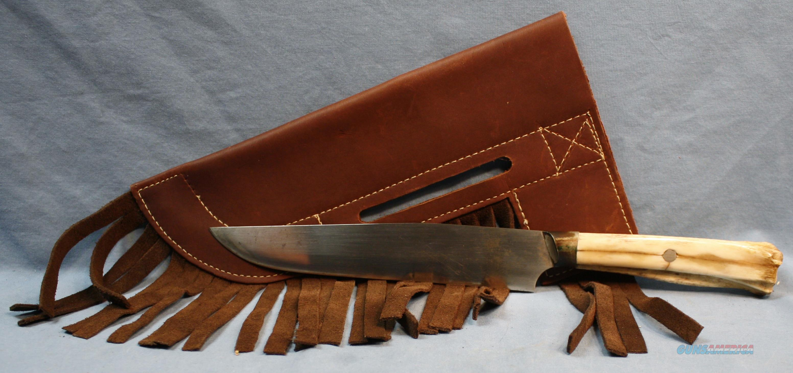 "Riflemans knife replica with Leather ""Crow"" style Sheath    Non-Guns > Knives/Swords > Knives > Fixed Blade > Imported"
