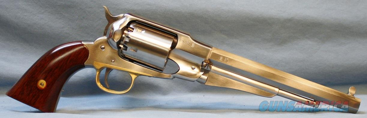 Uberti Model 1858 Remington Stainless Steel Single Action Blackpowder Percussion Revolver, .44 Caliber Free Shipping!   Guns > Pistols > Uberti Pistols > Ctg.
