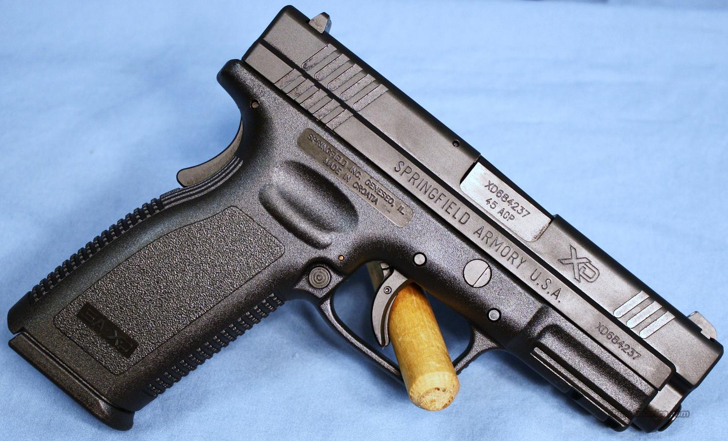 Springfield Armory XD45 Service Model Semi-Automatic Pistol .45ACP With Gear  Guns > Pistols > Springfield Armory Pistols > XD (eXtreme Duty)