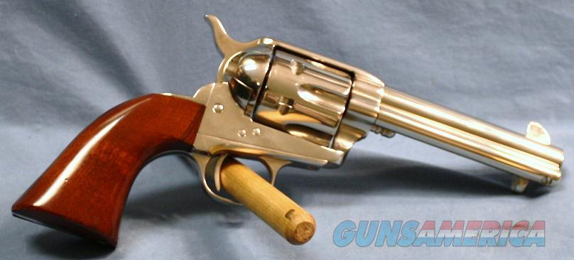 Cimarron Model P  Nickel Single Action Revolver 45 Colt  Guns > Pistols > Cimmaron Pistols
