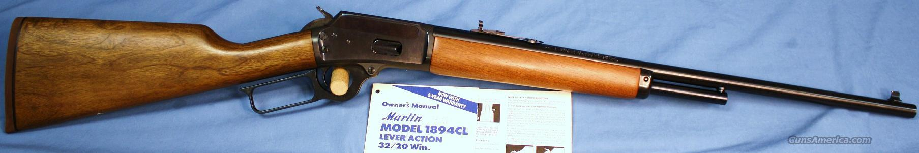 Marlin 1894CL Lever Action Rifle .32-20 Win.  Guns > Rifles > Marlin Rifles > Modern > Lever Action