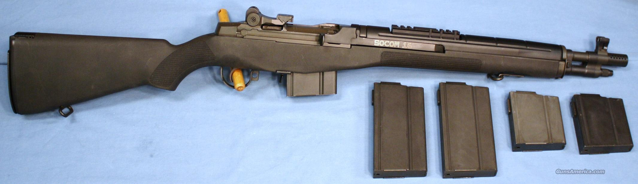 Springfield Armory M1A SOCOM-16 Semi-Automatic Rifle 7.62x51mm NATO .308 Win with 5 Magazines  Guns > Rifles > Springfield Armory Rifles > M1A/M14