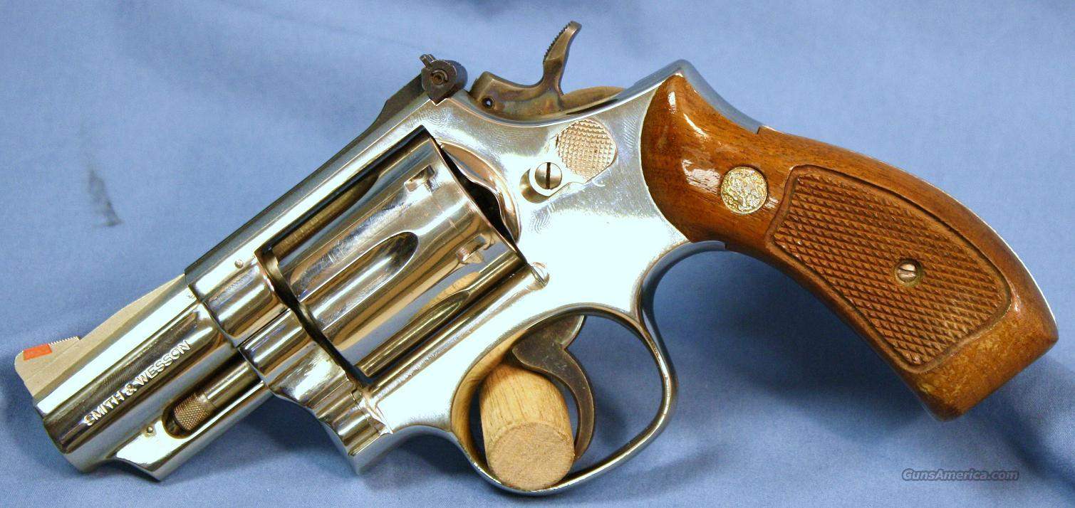 Smith and Wesson Model 19-4 Double Action Nickel Revolver .357 Magnum  Guns > Pistols > Smith & Wesson Revolvers > Full Frame Revolver