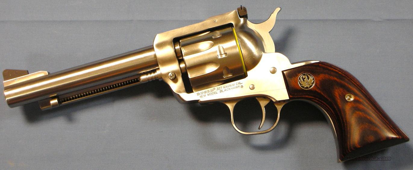 Ruger Blackhawk .327 Federal Stainless Steel Single Action Revolver   Guns > Pistols > Ruger Single Action Revolvers > Blackhawk Type