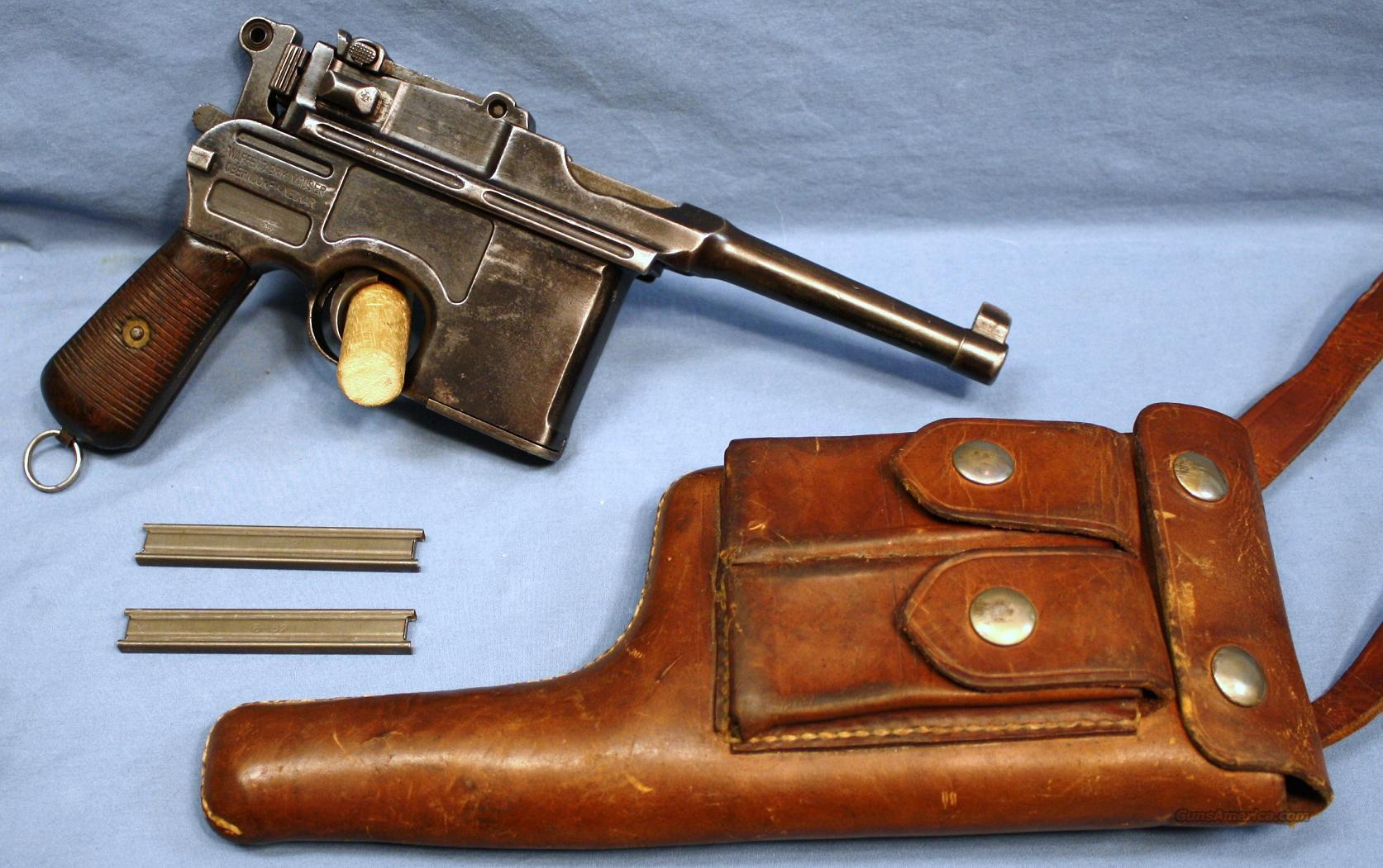 Mauser C96 Broomhandle Semi-Automatic Bolo Model Pistol 9mm With Holster  Guns > Pistols > Mauser Pistols