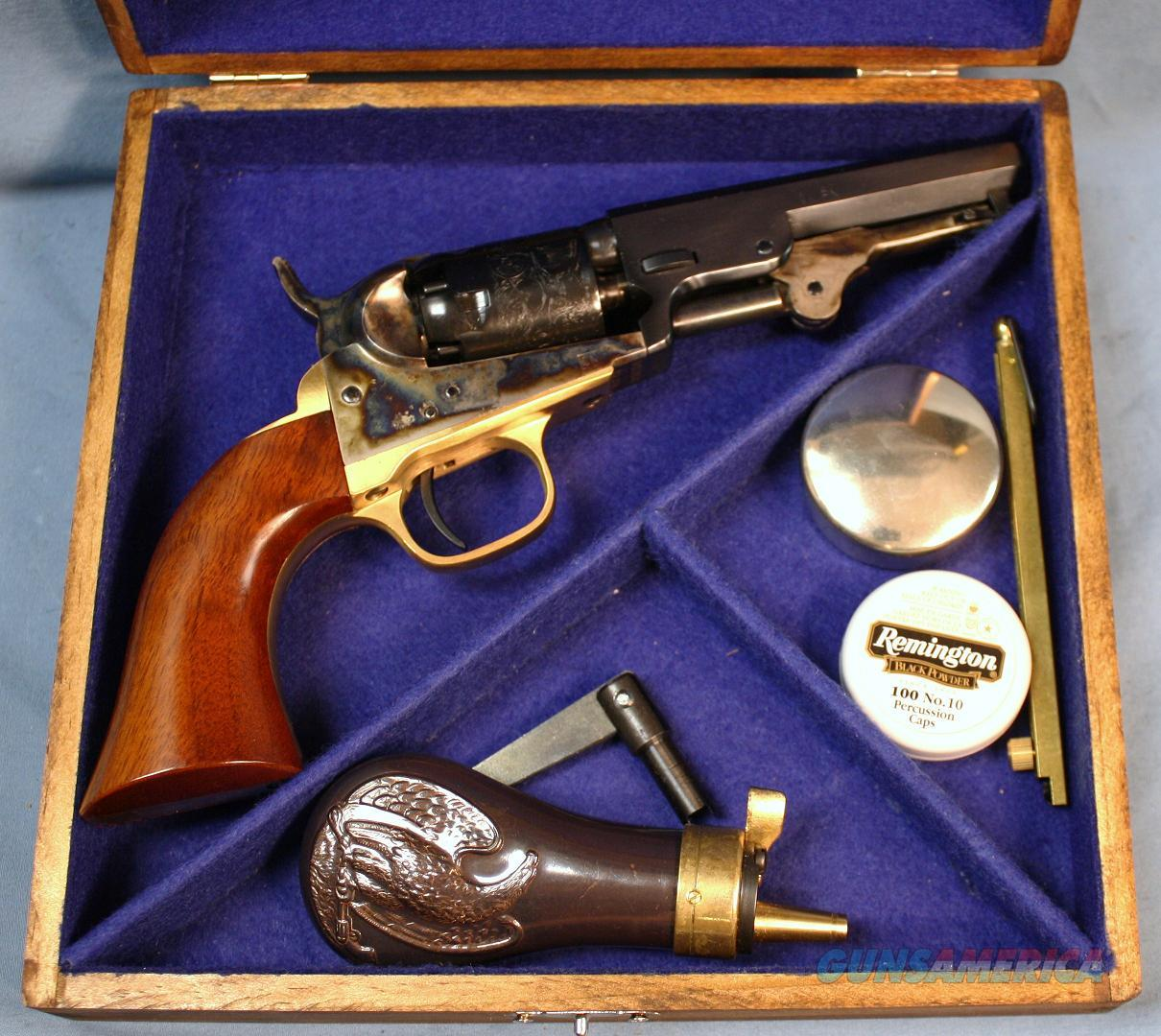 Uberti 1849 Pocket Single Action Percussion Revolver Cased Set 31 Caliber Free Shipping and No Credit Card Fees!   Guns > Pistols > Uberti Pistols > Percussion