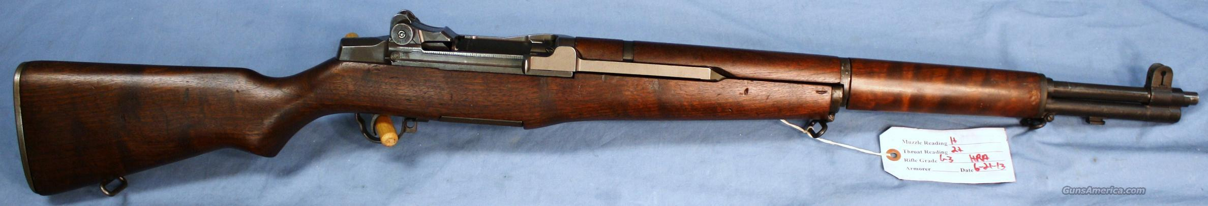 U.S. Army M1 Garand HRA Semi-Automatic Rifle .30-06 Barrel Date 1-55  Guns > Rifles > Military Misc. Rifles US > M1 Garand