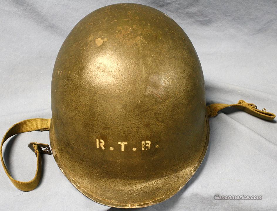 WWII Front Seam Fixed Bale Helmet  Non-Guns > Military > Clothing/Camo