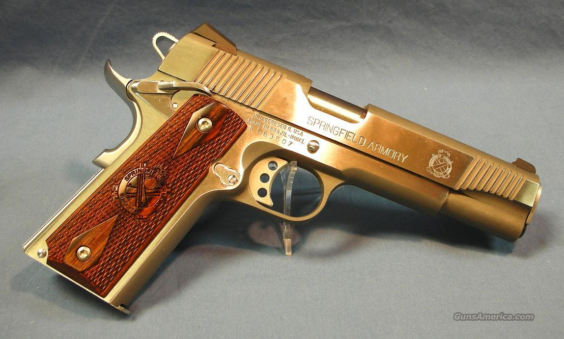 Springfield Armory 1911A1 Stainless Semi-Automatic Pistol 45 ACP  Guns > Pistols > Springfield Armory Pistols > 1911 Type