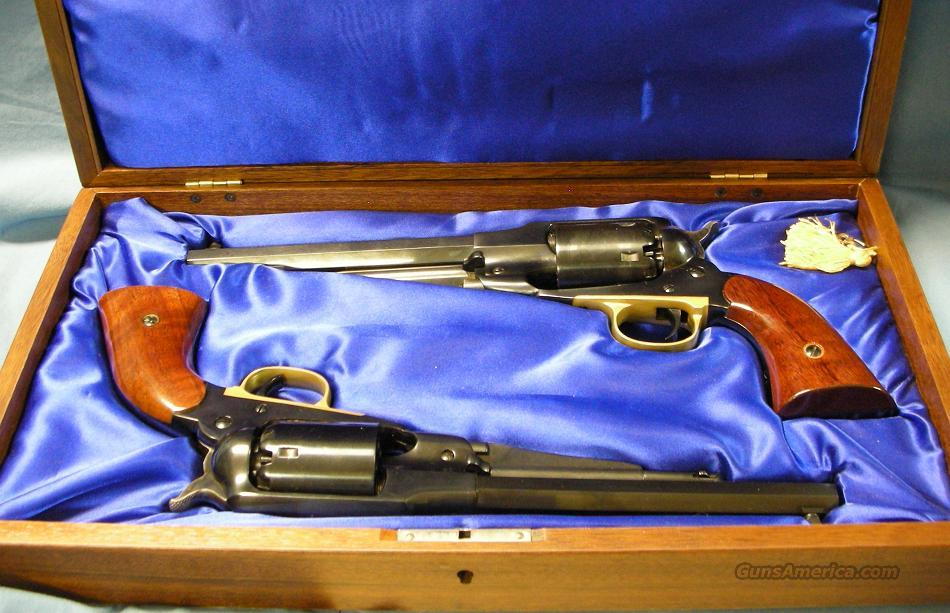 Uberti 1858 Remington New Navy Set of Single Action Percussion Revolvers 36 Caliber with 38 Special Conversion Cylinders  Guns > Pistols > Uberti Pistols > Percussion