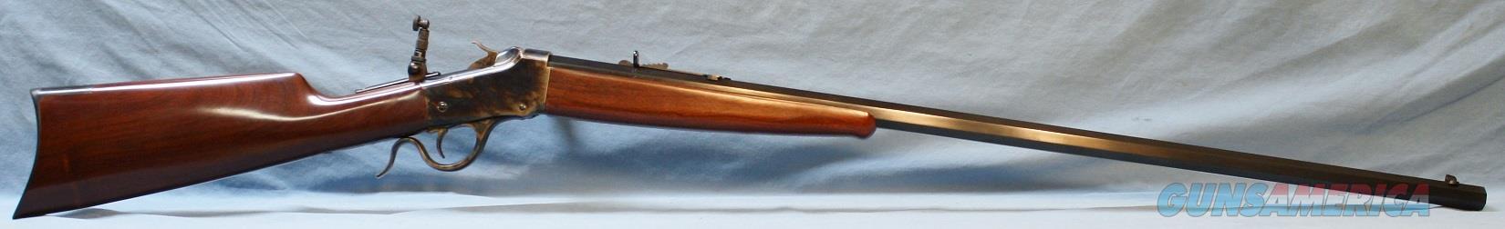Cimarron 1885 Low Wall Single Shot Sporting Rifle, made by Uberti, 38 WCF (38-40)  Guns > Rifles > Uberti Rifles > Single Shot