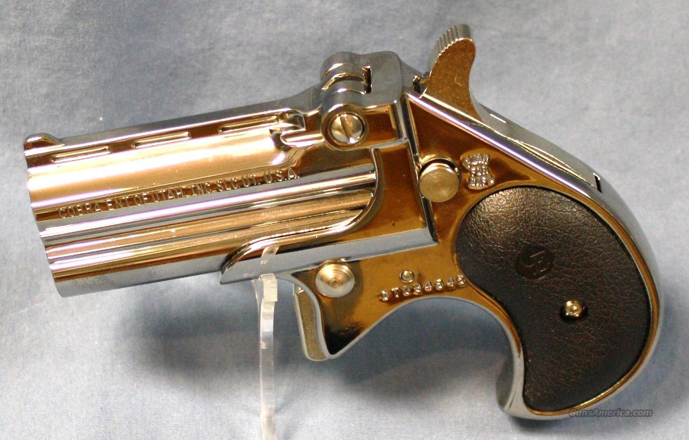Cobra Derringer Bright Nickeled .38 Special Over/Under Pistol  Guns > Pistols > Cobra Derringers