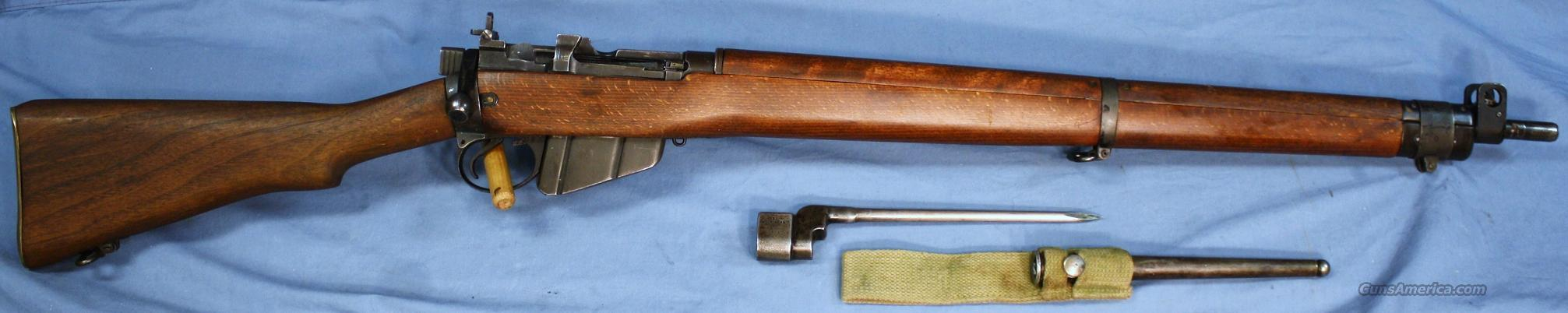 Enfield No. 4 MK I * Long Branch WWII Bolt Action Rifle .303 British Made 1944 with Bayonet  Guns > Rifles > Enfield Rifle