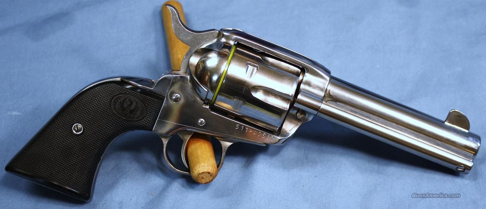 Ruger New Vaquero Stainless Single Action Revolver .45 Colt  Guns > Pistols > Ruger Single Action Revolvers > Cowboy Action