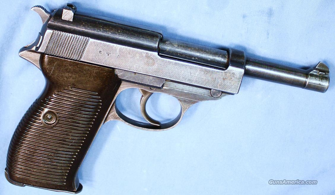 German Army Model P38 Semi-Automatic Pistol 9mm Made 1943  Guns > Pistols > Military Misc. Pistols Non-US