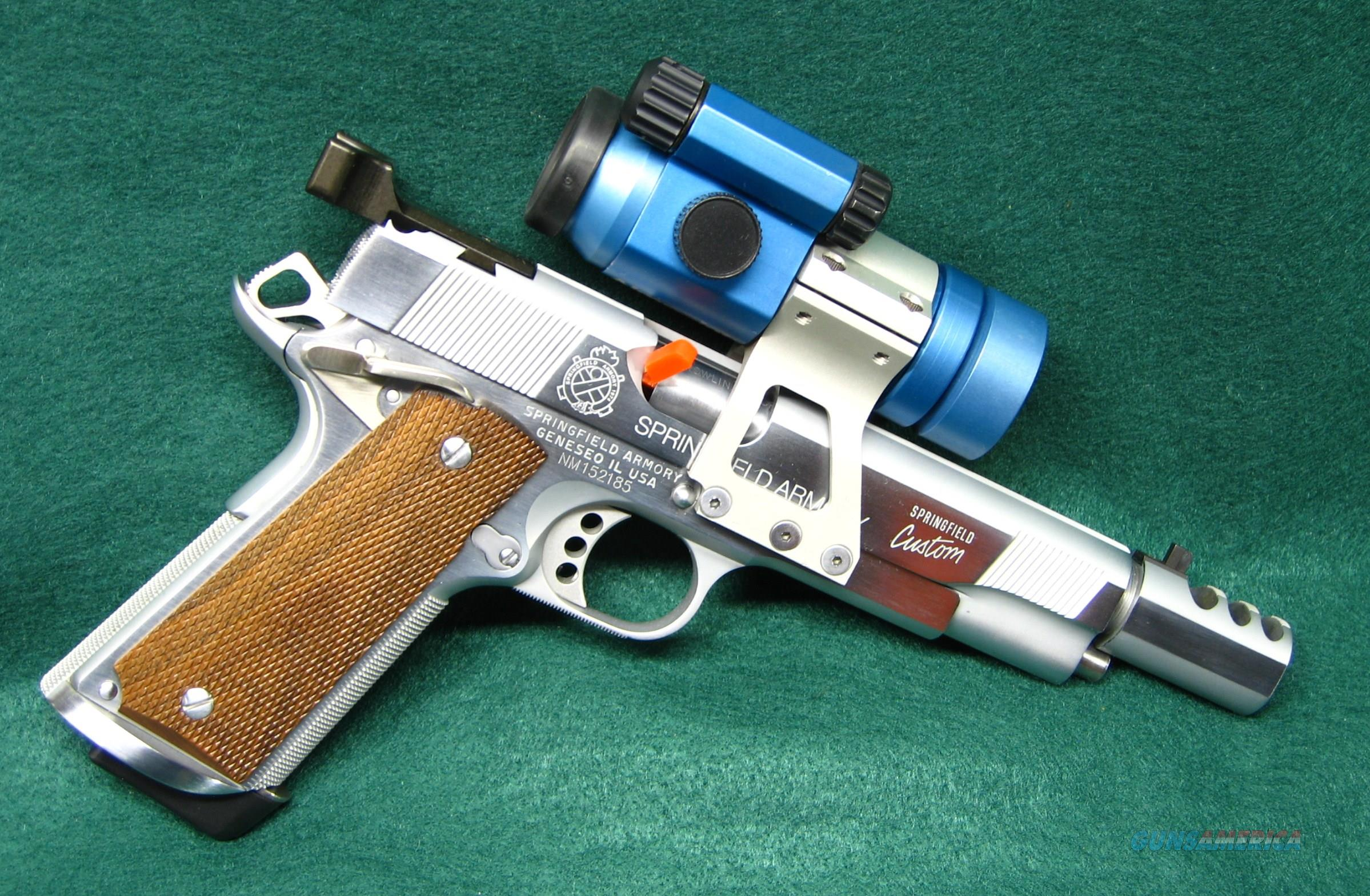 SPRINGFIELD CUSTOM DISTINGUISHED - .45ACP - RACE GUN  Guns > Pistols > Springfield Armory Pistols > 1911 Type